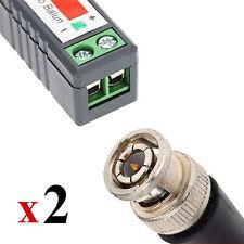 CCTV Video Passive Balun BNC Plug to CAT5 Cable Adapter UTP Transceiver PAIR