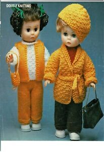 "Dolls knitting  pattern for  14"" doll.     Laminated copy. (V Doll 188)"
