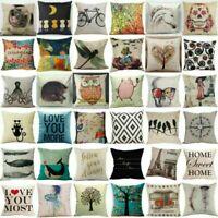 Sofa Bed Waist Throw Pillow Case Car Cushion Cover Home Decoration Cotton Linen