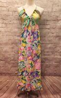 Jams World JUST for FUN Womens Floral Batik Tie Dye Long Midi Maxi Dress Size XS