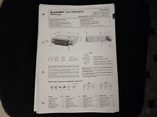 ORIGINALI service manual BLAUPUNKT AUTORADIO Norimberga SUPER arimat