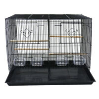 Double Breeding Bird Cage Removable Divider For Parakeet Canary Finch Loverbirb