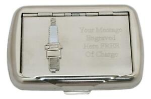 Spark Plug Tobacco Tin Stainless Steel with Free Engraving Gift 555