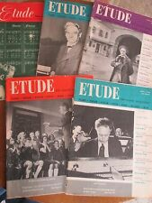 LOT 5 ETUDE MAGAZINES 1953-1954  Rose Parade BEECHAM Rubenstein AFRICAN MUSIC