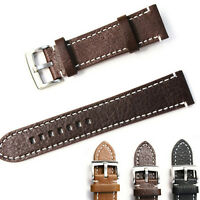 Womens Leather Watch Strap Band Mens Stainless Steel Buckle 18 19 20 21 22MM LWY