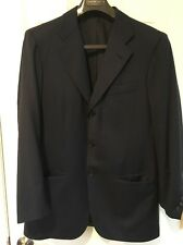 Kiton Men's Solid Navy Blue 3 Button Suit / Suit Coat & Pants EUC
