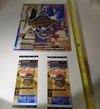 1995 World Series Cleveland Indians vs Atlanta Braves Games  3 Ticket Stubs