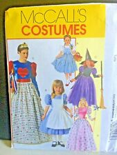 M4948 Mccall's Pattern 3-8 Child Princess Queen Hearts Witch Dorothy Costume FF