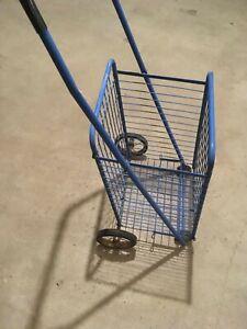 Foldable Utility Shopping Cart blue