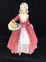 Exquisite 1932 ROYAL DOULTON Porcelain JANET HN1537 Figurine - Red/Pink Colors