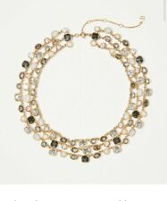ANN TAYLOR TINSEL STATEMENT NECKLACE LAYERED NWT GOLD HTF OUT OF STOCK
