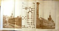 Old 1896 Architecture Plan Chapel Buildings Saint Saviours Priory Hag 19th