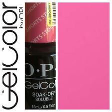 OPI GelColor Soak Off Gel Polish SHORTS STORY Pink 15ml New