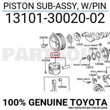 131013002002 Genuine Toyota PISTON SUB-ASSY, W/PIN 13101-30020-02
