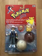 Pokemon Trainer Set Figure Ash & #25 Pikachu Original Hasbro 2000 Limited