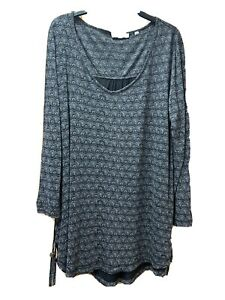 Ladies Grey & Pink Tunic Top From FAT FACE UK 10 VGC