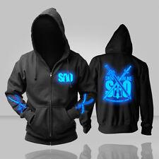 Luminous Anime Sword Art Online SAO Black Sweatshirt Hoodie Jacket Coat Tops #J4