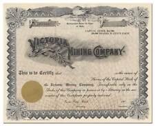 Victoria Mining Company Stock Certificate