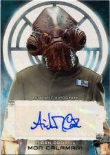 Star Wars Last Jedi A-AC Autograph Card Aiden Cook as Mon Calamari