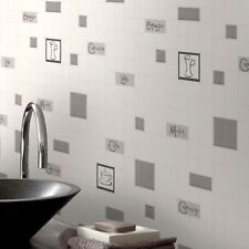 Contour Cafe Culture Kitchen Bathroom Grey Wallpaper