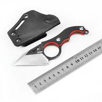 KUBEY Kleine Tactical Knives mit fester Klinge Kydex-Scheide D2 Klinge G10 Griff
