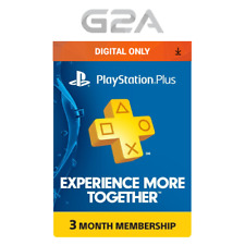 Playstation Plus 90 Days Card - PSN 90 Days Code PS US Store - SONY 3 Month Key