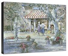 The Art Gallery Lew Gordon Mediterranean Flowers Street Scene Canvas Print 18x24