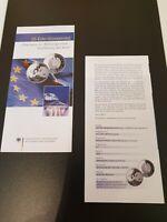 VfS Flyer Zertifikat für 10 Euro Silber Gedenkmünzen pP 2002 Einführung des Euro