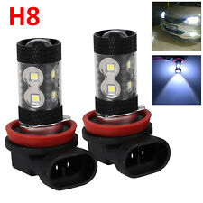 2x H8 H11 6000K White 60W High Power CREE Fog Light LED Drivings Bulbs DRL UK