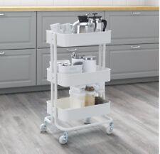 IKEA Raskog Kitchen Trolley Island - White (castors Shelves Storage Bathroom)