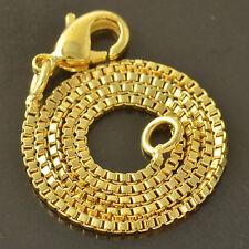 Gorgeous 9K Yellow Gold Filled Womens Box Bracelets,7.87 Inch,Z4206