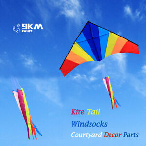 1.2m Rainbow Kite Tail Windsock Spinners Outdoor Decorate Kids Toy Flying Fun