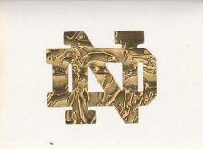 GOLD LEAF Notre Dame Fighting Irish 2 inch ND fire helmet decal sticker