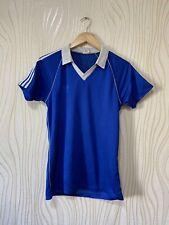 ADIDAS 80s BLUE FOOTBALL SHIRT SOCCER JERSEY sz M