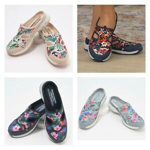 Skechers Floral Mules - Commute Time | Various Color Size | Choose