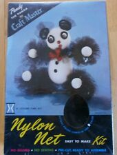 Vintage 60s CRAFT MASTER NYLON NET KIT PANDY The PANDA Kit Shrink Wrapped