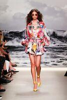 Zimmermann Wavelength Long Sleeve Mini Dress In Poster Print- Size 1
