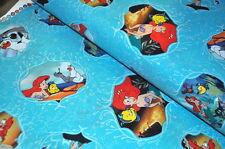 DISNEY Arielle la sirena USA Designer Tessuto 0,5 M Sebastian Fabius a