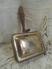 New listing Vntg~Antq F.B.Rogers Etched Shield SilverPlate Wood Hndl Silent Butler Ash Box