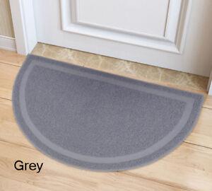 Grey DOOR MATS RUBBER BACK HEAVY DUTY ENTRANCE HALF MOON STYLE 36*60cm