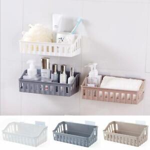 Bathroom Kitchen Shelf Suction Cup Rack Organizer Storage Wall NW Basket S1K0