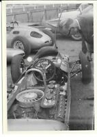 PORSCHE 804 AINTREE BRITISH GP PADDOCK PERIOD PHOTOGRAPH JO BONNIER CAR ENGINE