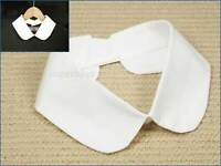 False White Peter Pan Cotton Collar Faux Decorative Detachable Removable