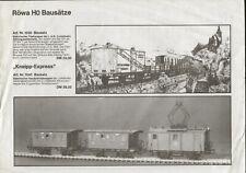 catalogo Röwa 1990 Modellbausätze Fischer-Train         D         aa