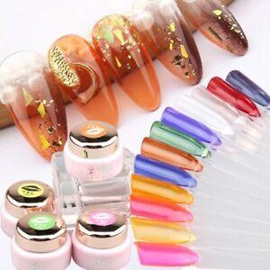 Coloured Glaze Amber UV Gel Nail Polish Glass Gelpolish Ice Nails Art Manicure
