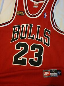 Michael Jordan 1997-98 Chicago Bulls NBA Finals Nike Authentic Jersey Size 40