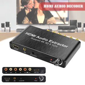 HDMI PCM 5.1 Surround AC-3 DTS 3D Audio Extractor Decoder With 4K 1080P EDID PP