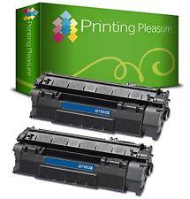 2 Compatible Q7553X 53X TONER CARTRIDGE For HP Laserjet P2015N P2015 P2015D
