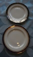 PAIR OF ALFRED MEAKIN BLEU DE ROI SIDE PLATES, GILDED BORDER