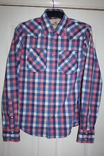 HOLLISTER CALIFORNIA VERY GOOD LONG SLEEVE PRESS STUD SHIRT IN SIZE S